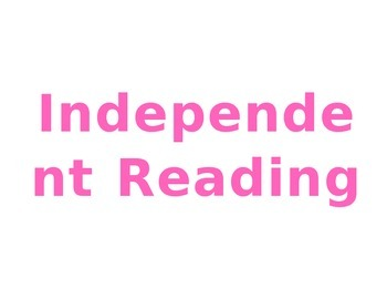 Independent Reading Poster (Read 180)