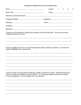 Independent reading pre interview questionnaire by jennifer mann independent reading pre interview questionnaire thecheapjerseys Gallery