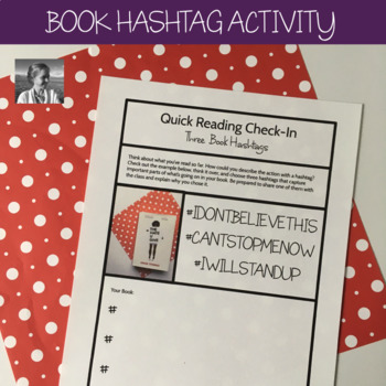Independent Reading Accountability: Book Hashtags Activity