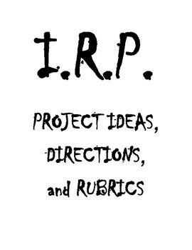 Independent Reading Program - Project Ideas, Descriptions, and Rubrics