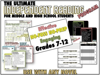 Independent Reading Program, Task Cards , PPT – CCSS Aligned