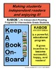 Independent Reading Program, book talk forms, book report forms