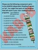Independent Reading Program, nonfiction worksheets
