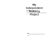 Independent Reading Project Booklet