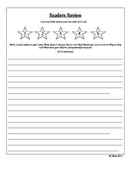 Independent Reading Project (Flip Book)