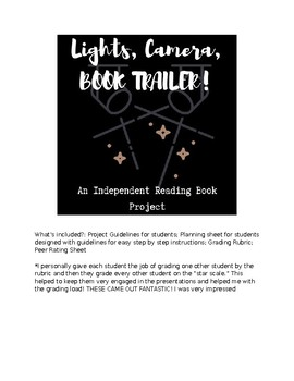 Independent Reading Project: Lights, Camera, Book Trailer!
