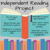 Independent Reading Project Menu (23 Options!) - Grades 5-9