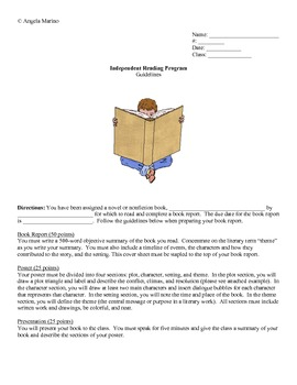 Independent Reading Project - Middle School