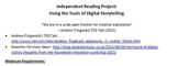 Independent Reading Project & Rubric - Using the Tools of Digital Storytelling