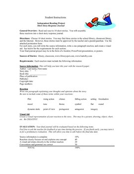 Independent Reading Project - Short Story Response Journal .pdf