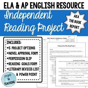 Independent Reading Project - aka The Book Report!