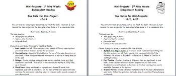 Independent Reading Project guidelines and rubrics