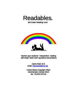 Independent Reading Questions and Answers for 60 3rd Grade Chapter Books