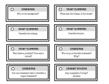 Independent Reading Quick Check - Comprehension Tool Intermediate/Middle School