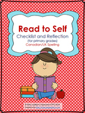 Independent Reading (Read to Self) Checklist for Primary {Canadian/UK Spelling}