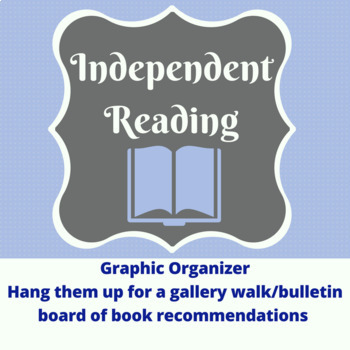 Independent Reading Recommendation Graphic Organizer