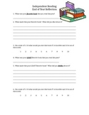 Independent Reading Reflection Sheet - End of Year