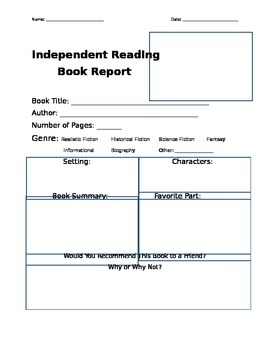 Independent Reading Reports