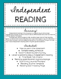 Independent Reading Journal, Goal Tracking, and Assessment