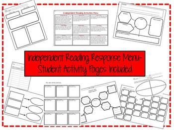 Independent Reading Response Activities Menu-Student Activ