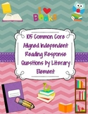 Independent Reading Response Prompts: Common Core &  Liter