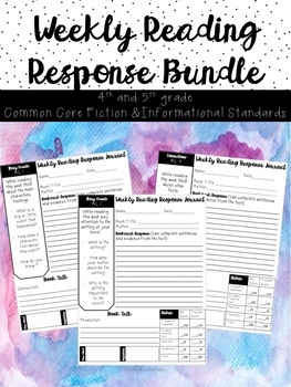 Independent Reading Response to Literature: Fiction and Non Fiction Bundle