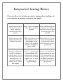 Independent Reading Responses