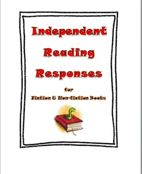 Independent Reading Responses for Intermediate Grades