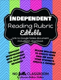 #nofrillsclassroom Independent Reading Rubric LINK include