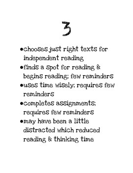 Independent Reading Rubric RL 4.10