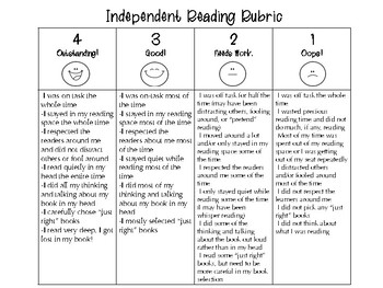 Independent Reading Rubric and Calendar for Reader's Workshop!