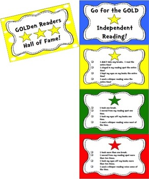 Independent Reading Rubrics, Bookmarks, Clip Chart and More!