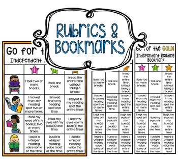 Independent Reading Rubrics,Bookmarks,Classroom Chart,Reflections & Star Charts!