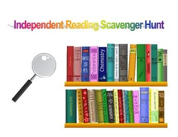 Independent Reading Scavenger Hunt