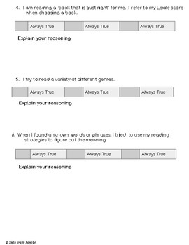 Independent Reading Self-Assessment