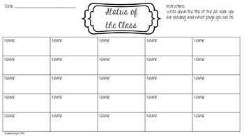 Status of the Class: Independent Reading Teacher Tool