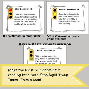 Independent Reading Task Cards (EDITABLE)