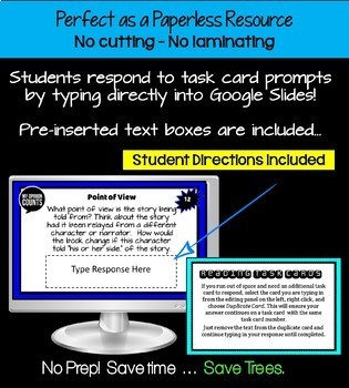 Independent Reading Task Cards and Activities Bundle for Google Classroom