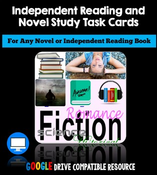 Independent Reading Task Cards: Novel Study Activities (Google Classroom)