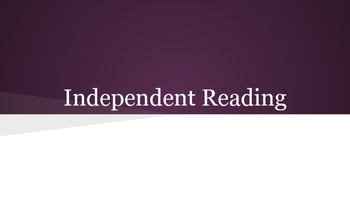 Independent Reading-The First 19 Days