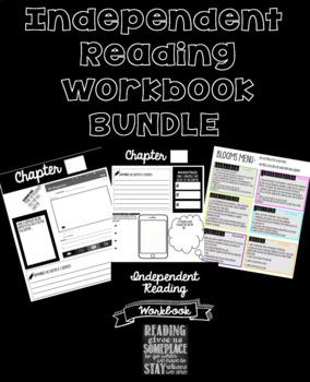 Independent Reading Workbook for any novel  EDITABLE BUNDLE