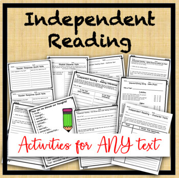 Independent Reading activites for any text