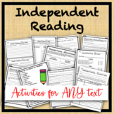 Independent Reading Activities-Visualize, inferences, connections, main idea...