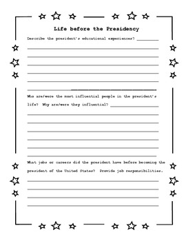 Independent Research - Become a Resident Expert: Presidents