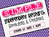 Independent Research Booklets (w/Posters)