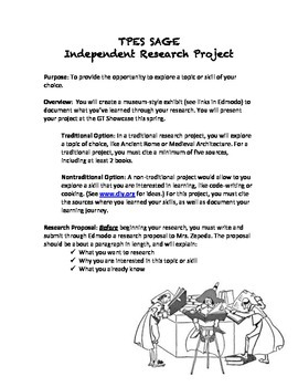 Independent Research Project Guidelines