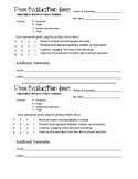 Independent Research Project Peer Feedback form