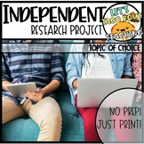 Independent Research Project - Topic of Choice