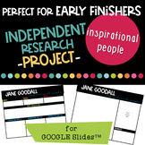 Independent Research Project for Google Slides - Inspirational People