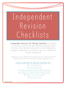 Independent Revision Checklists